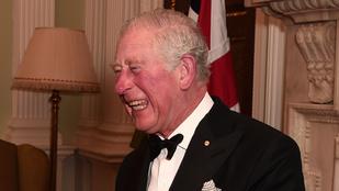 A nap képe: Károly herceg akkorát nevet, hogy már alig hasonlít önmagára