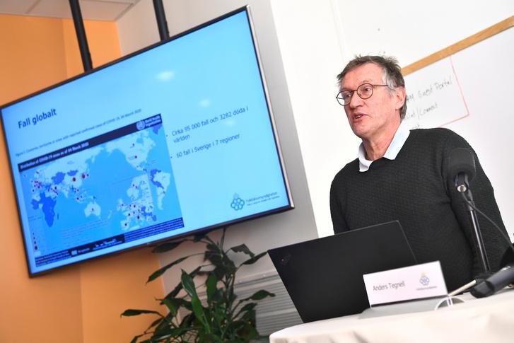 Anders Tegnell a svéd Közegészségügyi Hatóság vezetője