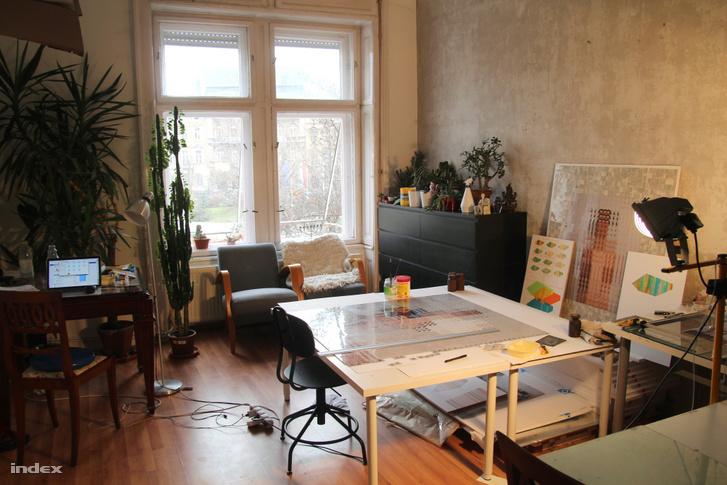 Tarr Hajnalka lakás-műterme