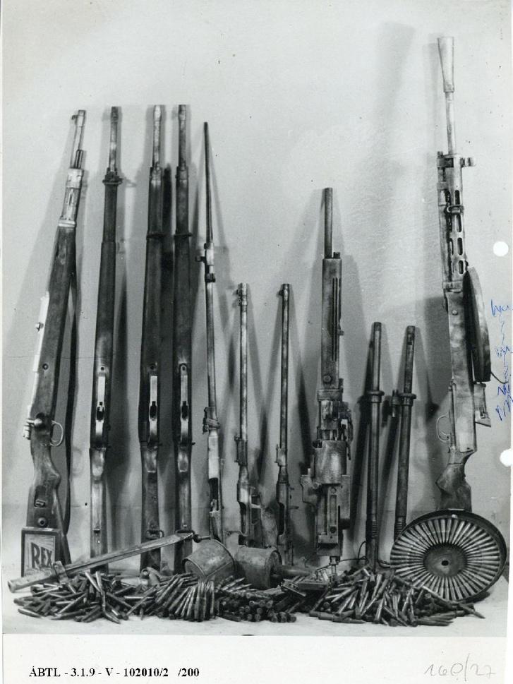 A kesztölci forradalom lefoglalt fegyverei
