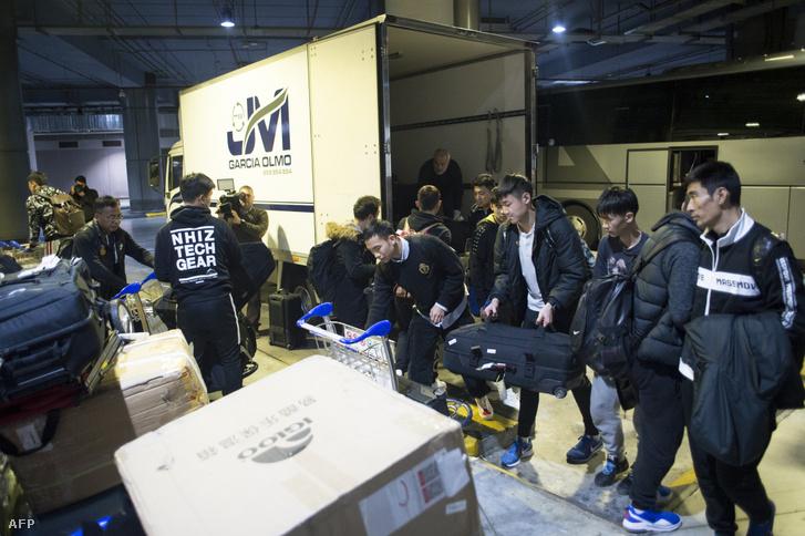 A Vuhan Zall január végén, amikor megérkezett spanyolországi edzőtáborára