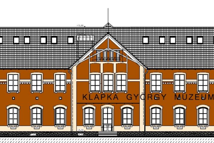 A Klapka György Múzeum új épületének terve