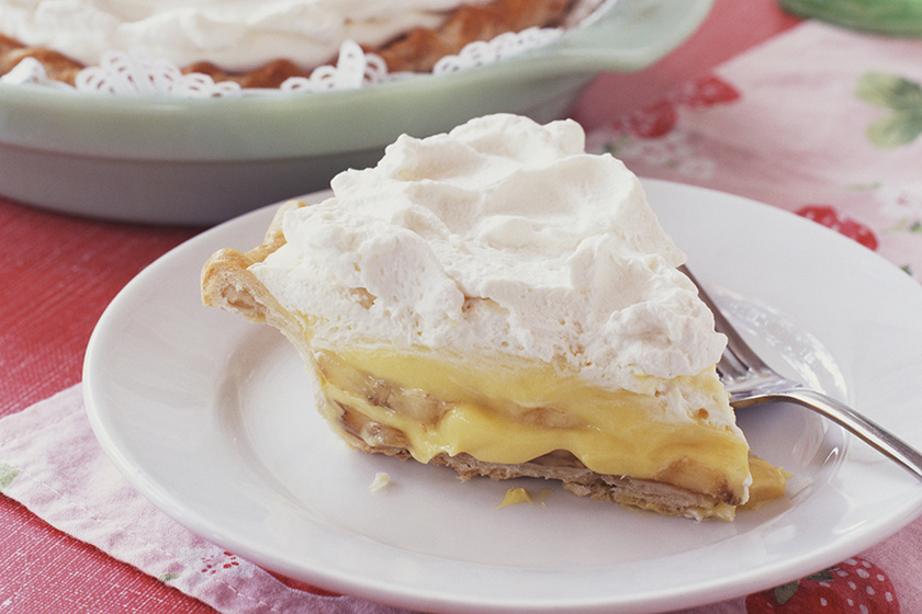 Selymesen krémes banános pite: jól behűtve a legfinomabb