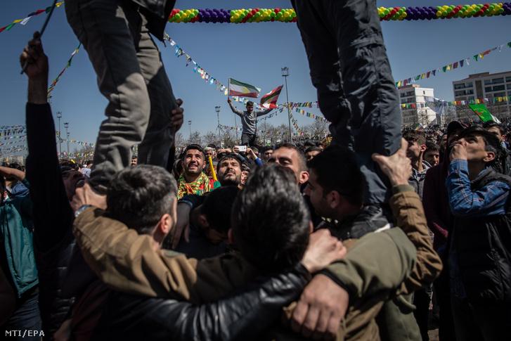 A perzsa újév a noruz alkalmából tartott ünnepség Iránban 2019. március 21-én