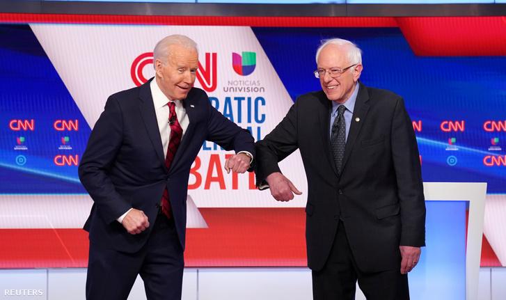 Joe Biden és Bernie Sanders