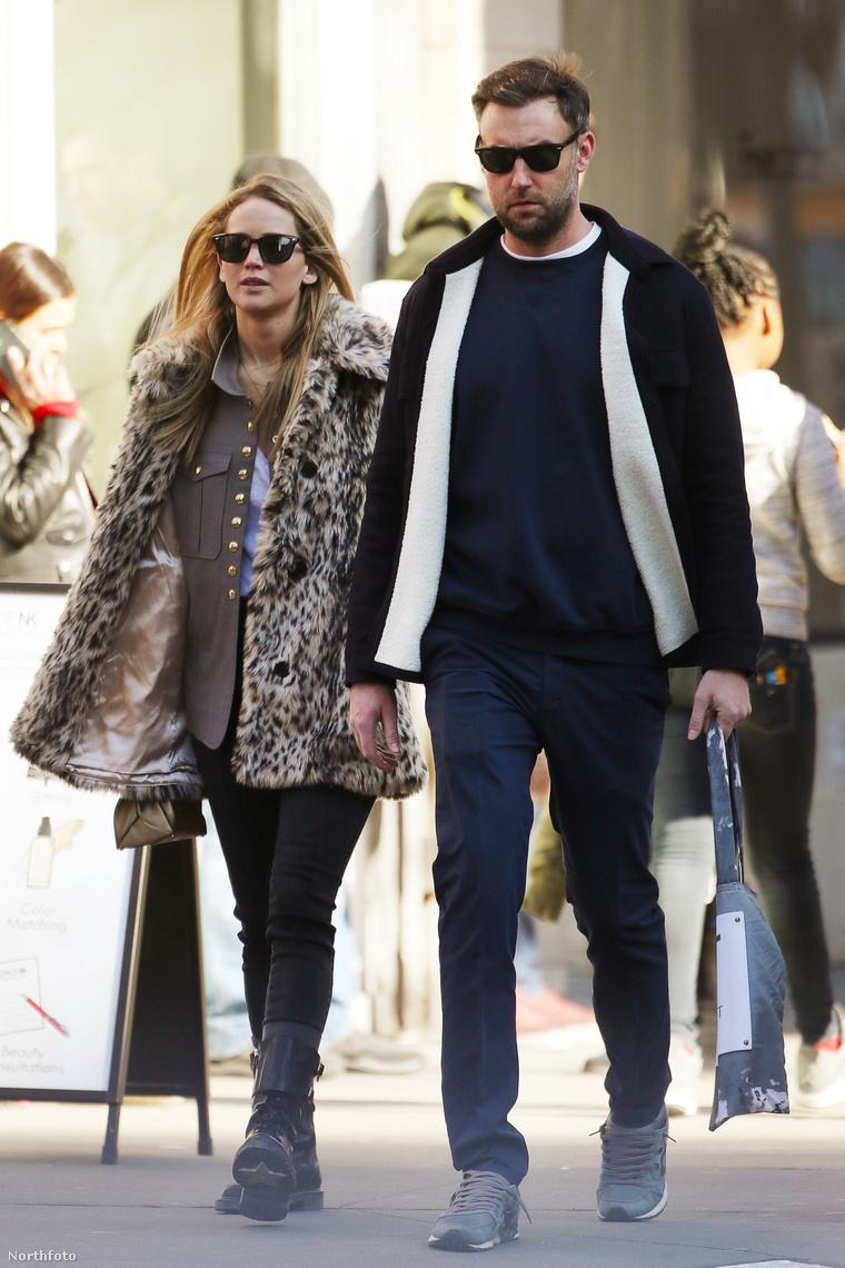 Jennifer Lawrence és Cooke Maroney korábban, New Yorkban