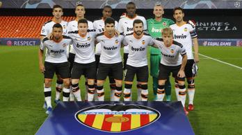 A Valencia futballcsapatának 35 százaléka koronavírusos