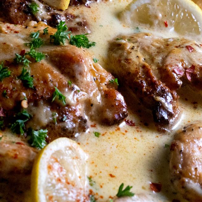 Puha, szaftos csirkemell citromos-tejszínes szószban - Parmezánnal még finomabb