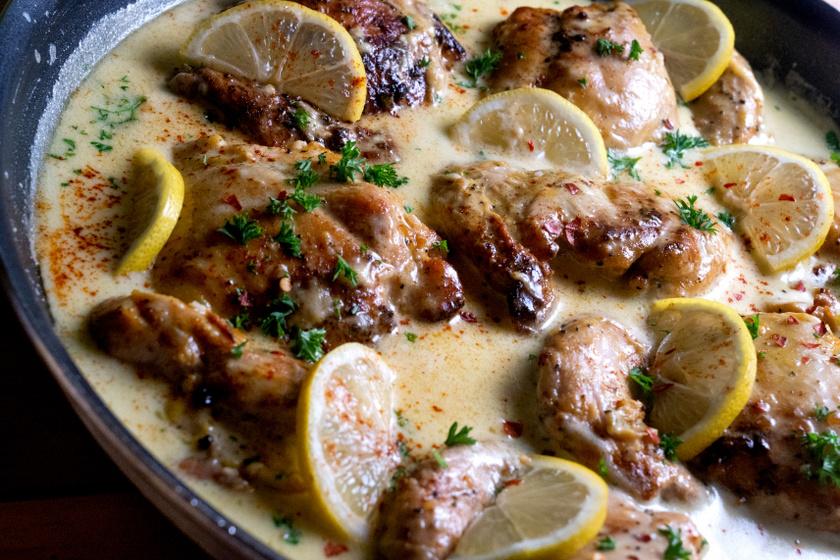 citromos parmezános csirke recept