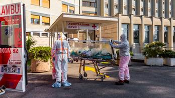 Újabb 345 olaszországi halott a járvány miatt, már 31 ezer beteg és 2500 áldozat fölött járnak