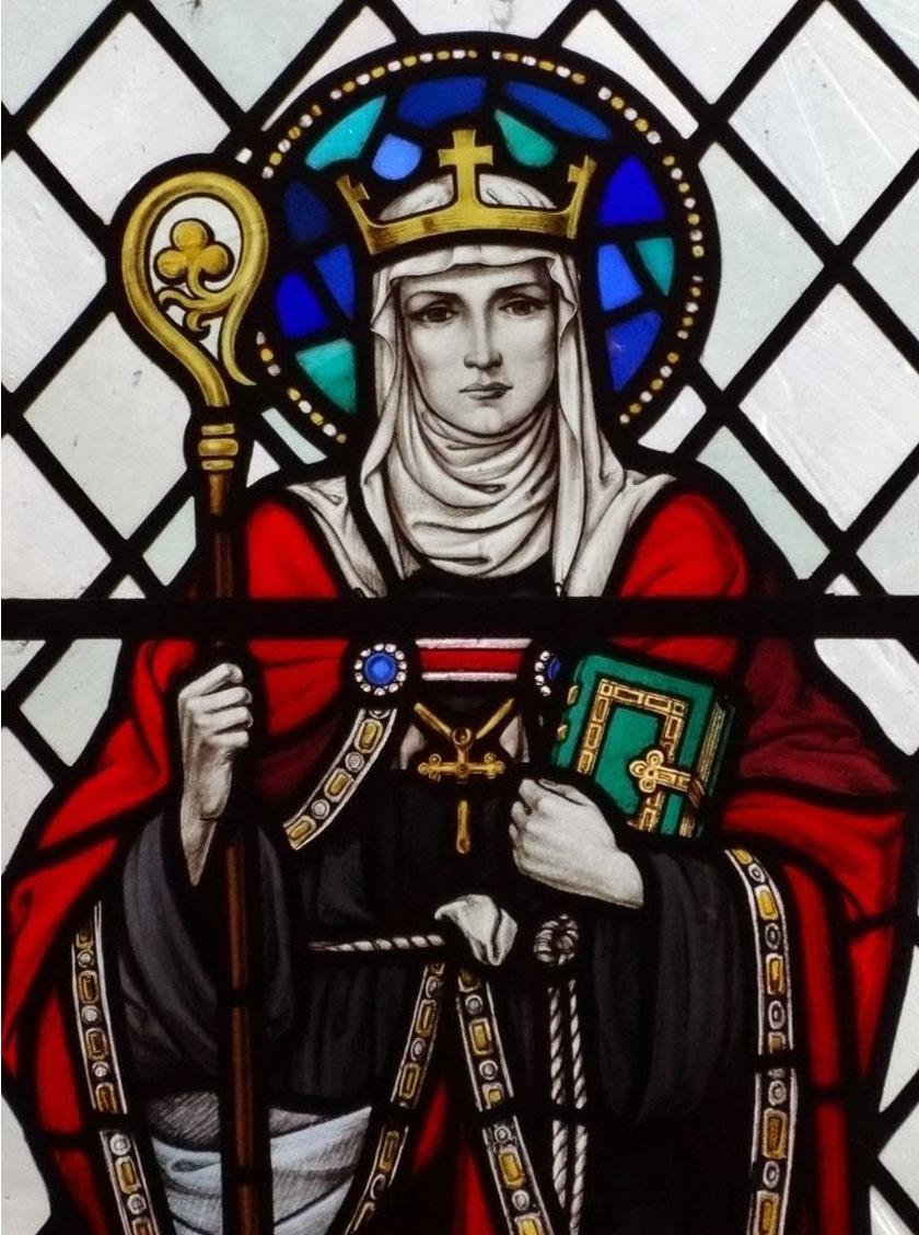 Szent Eanswythe képmása.