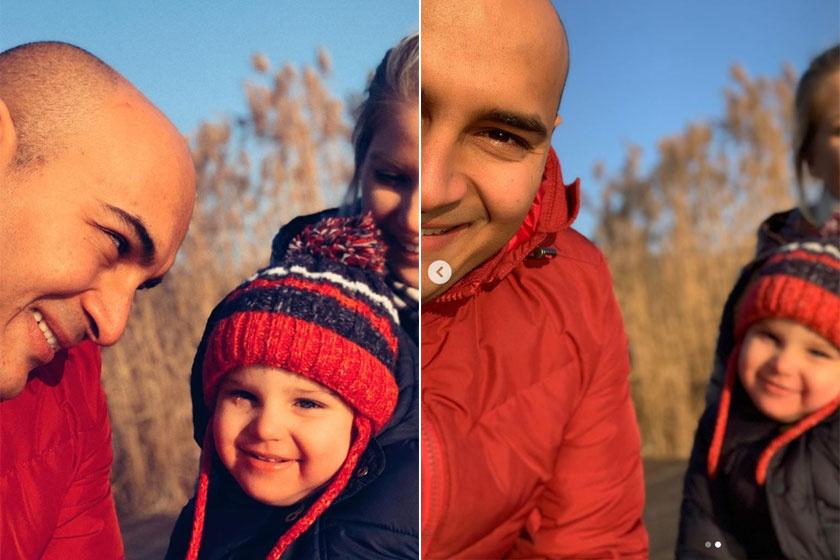 Mendel és Zsolti nagyon hasonlítanak egymásra, a cuki vigyort egészen biztosan apukájától örökölte a kisfiú.