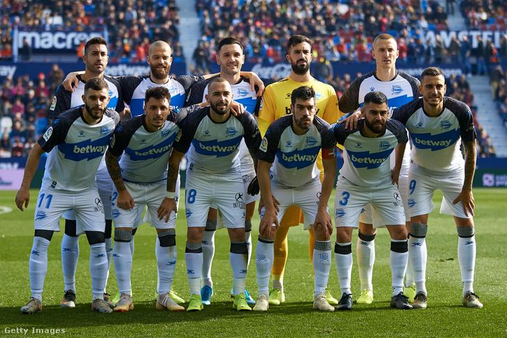 A Deportivo Alavés játékosai