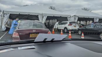Így néz ki egy autós koronavírus-szűrő állomás