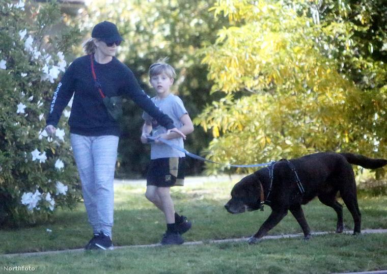 Reese Witherspoon és fia ellenben nem vásárlás, hanem kutyasétáltatás miatt hagyták el otthonukat