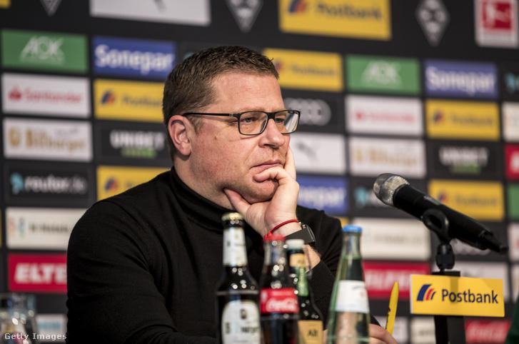Max Eberl, a Borussia Mönchengladbach sportigazgatója 2020. március 7-én.