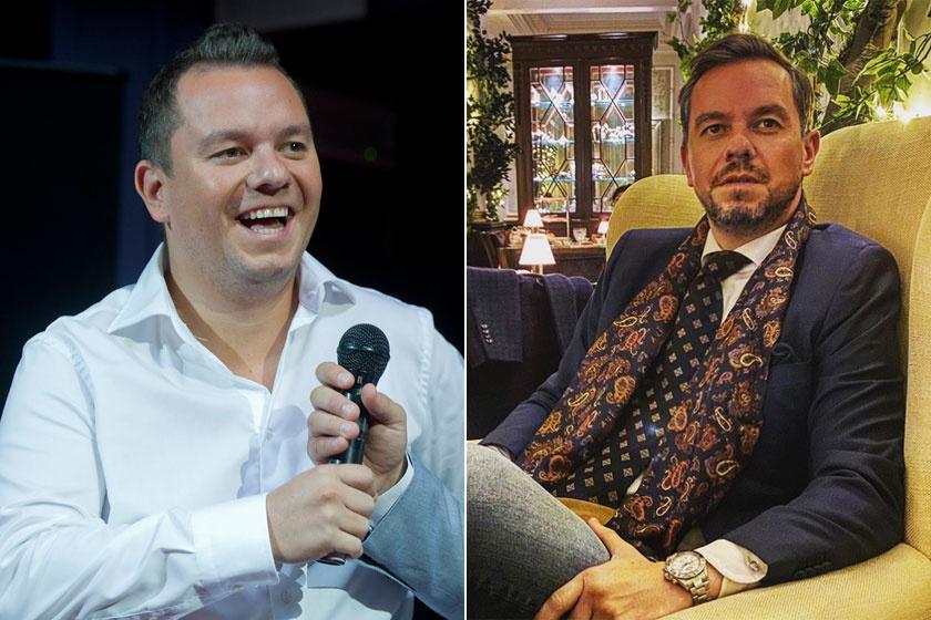 A bal oldali kép 2011-ben, míg a jobb oldali 2019 novemberében készült róla.