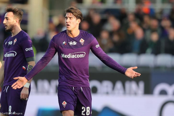 Dusan Vlahovic,a Fiorentina futballistája