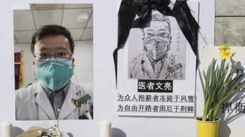 Bocsánatot kért a vuhani rendőrség, amiért előállították a vírust először jelző orvost