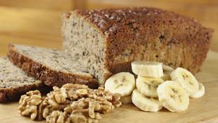 Tejfölös banánkenyér gluténmentesen