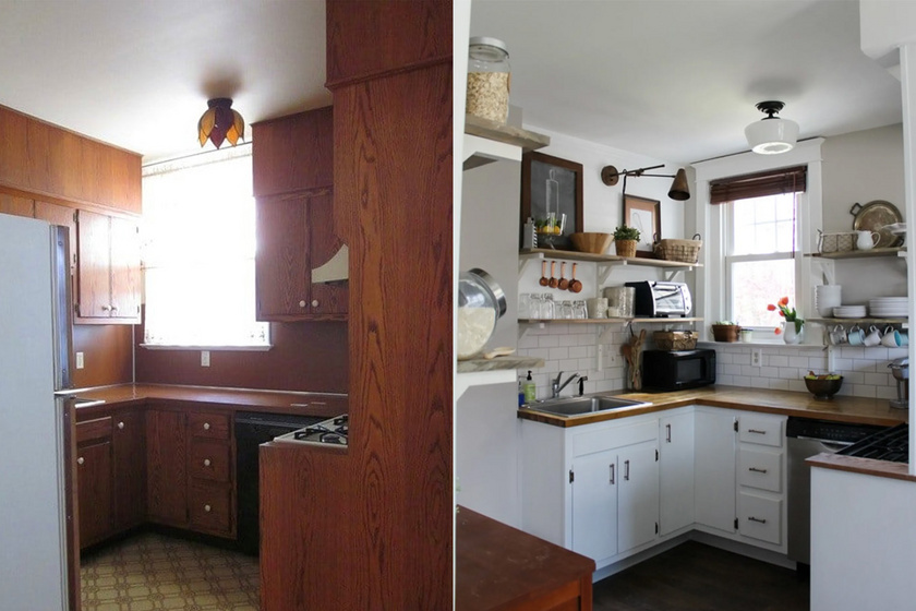 Apró, sötét lyukakból álomszép konyhák: előtte-utána képeken mutatjuk az átváltozást