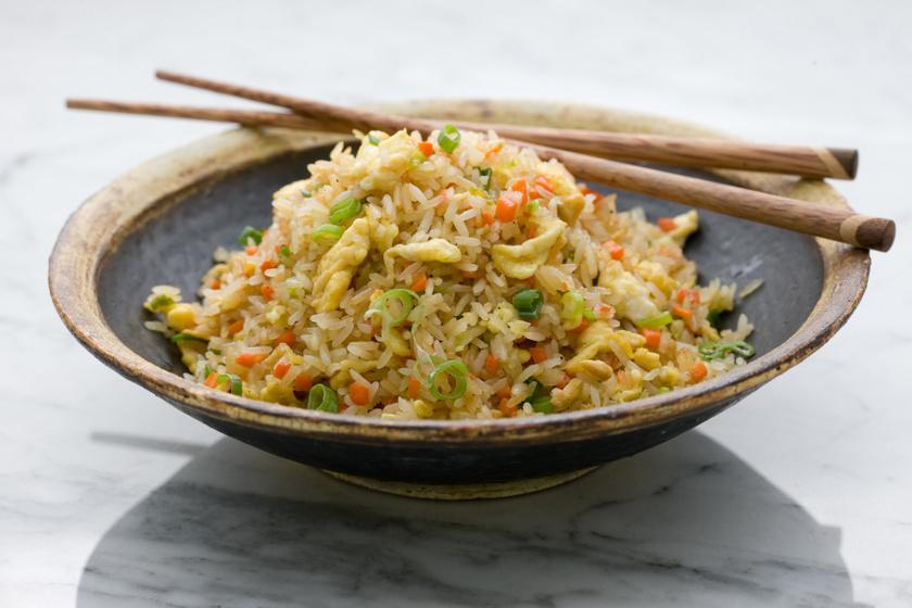 sült rizs recept