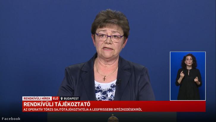 Müller Cecília országos tisztifőorvos a mai virtuális sajtótájékoztatón