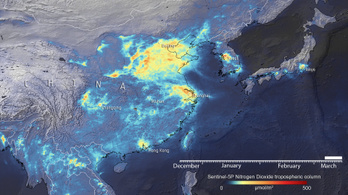 Körülbelül 40 százalékkal csökkent a légszennyezettség a koronavírus miatt Kínában