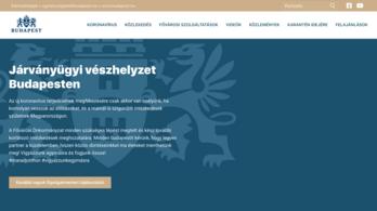 Elindult a főváros koronavírus-tájékoztató honlapja