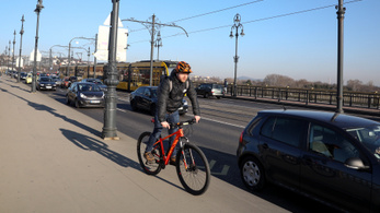 Megnőtt a kerékpáros forgalom Budapesten
