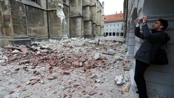 Két erős földrengés volt Zágrábban vasárnap