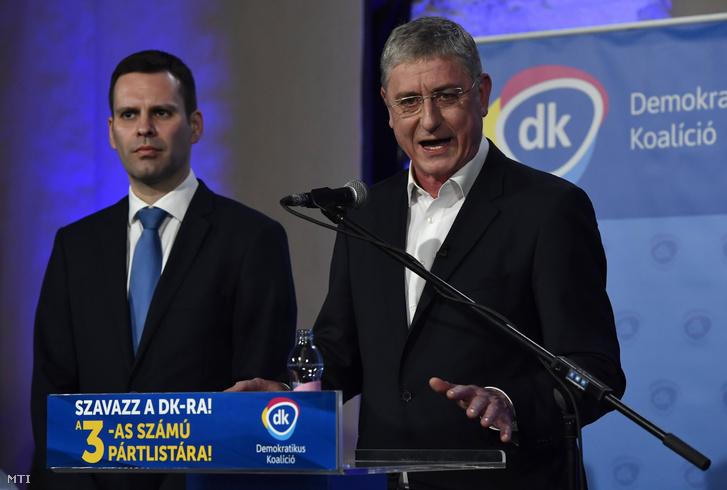 Gyurcsány Ferenc és Molnár Csaba 2018. április 8-án.