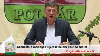 Részleges kijárási tilalmat rendelt el Polgár polgármestere