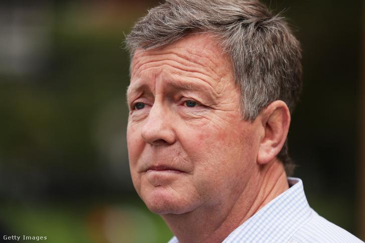 Matt Carroll, az Ausztrál Olimpiai Bizottság főtitkára a Sydney-ben tartott sajtótájékoztatón 2020. március 23-án.