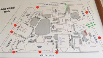 Zsilipes kapukon keresztül lehet csak bejutni a Semmelweis Egyetem klinikáira