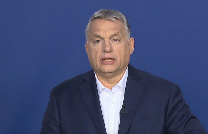 Prime Minister Viktor Orbán speaking before the press conference of the government's coronavirus task force on 23 March 2020.