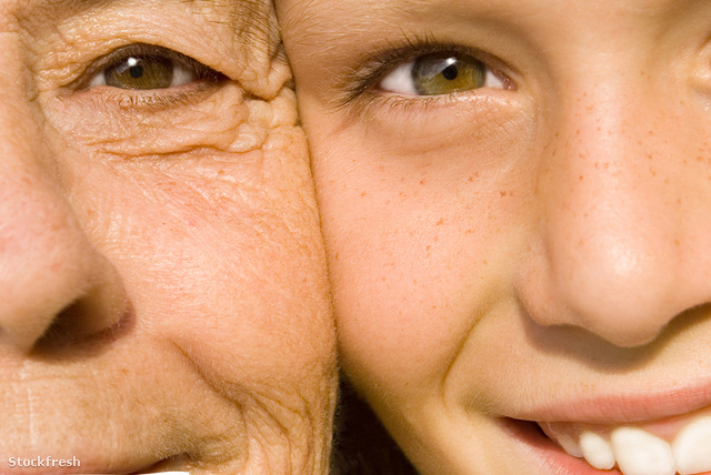 stockfresh 1135477 senior-and-child-close-up-of-faces-and-skin s