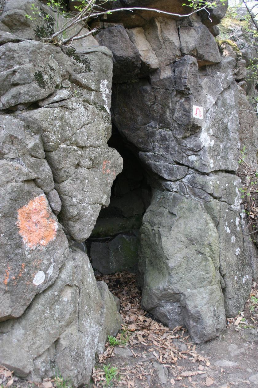A Vidróczki-barlang a Mátrában.