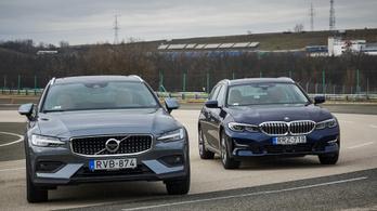 Összehasonlító teszt: BMW 320d Touring xDrive vs. Volvo V60 Cross Country D4 AWD - 2020.