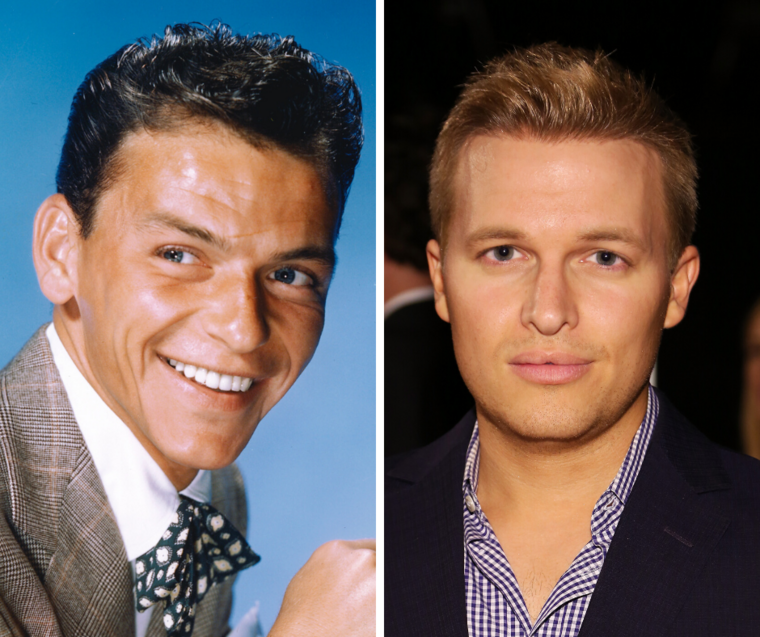 Bal oldalon: Frank Sinatra, jobb oldalon: Ronan Farrow