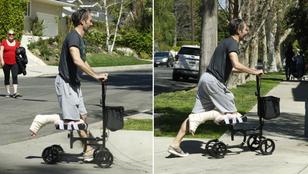 Eltört a lába? Itt egy újítás, mankózás helyett rollerezzen!