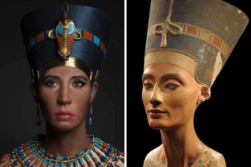 A Nofretitiről készült mellszobor az egyik legértékesebb fennmaradt ókori alkotás, aminek segítségével az egyiptomi királyné valósághű ábrázolását is meg tudták alkotni.