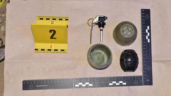 Gránátokat és kábítószert foglaltak le egy baranyai házban