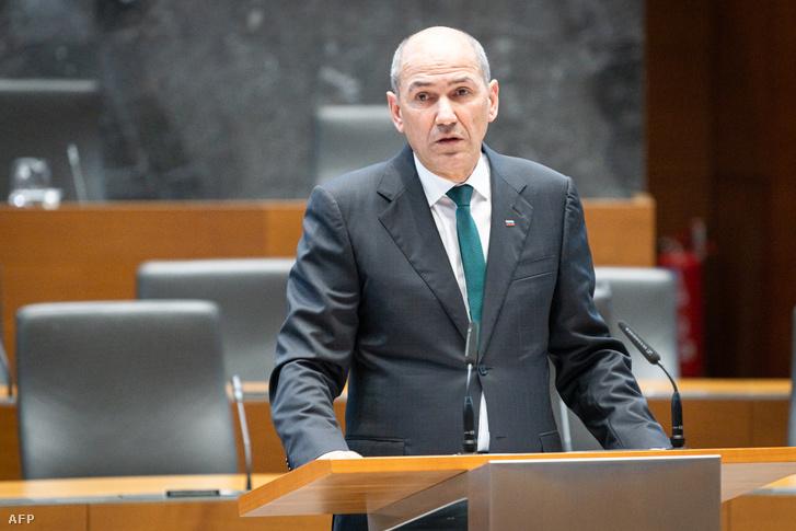 Janez Jansa 2020. március 3-án.