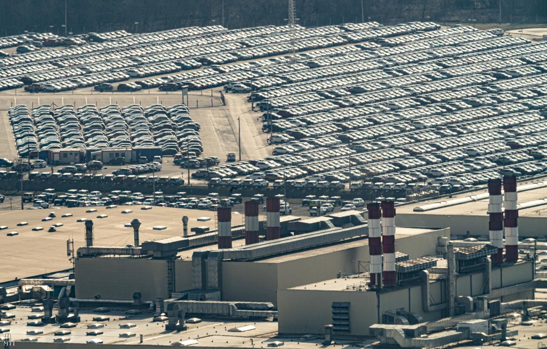 Az esztergomi Suzuki-gyár 2020. március 18-án pár nappal a gyártás leállítása előtt.
