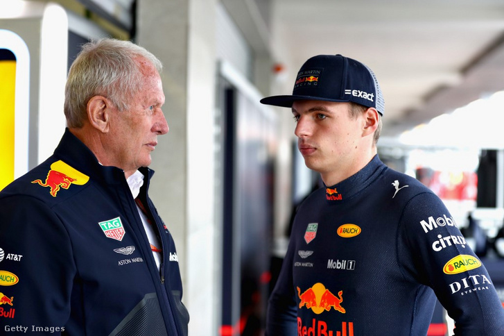 Helmut Marko és Max Verstappen