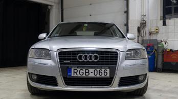 Audi A8 3 millióért, javítás 4-ért