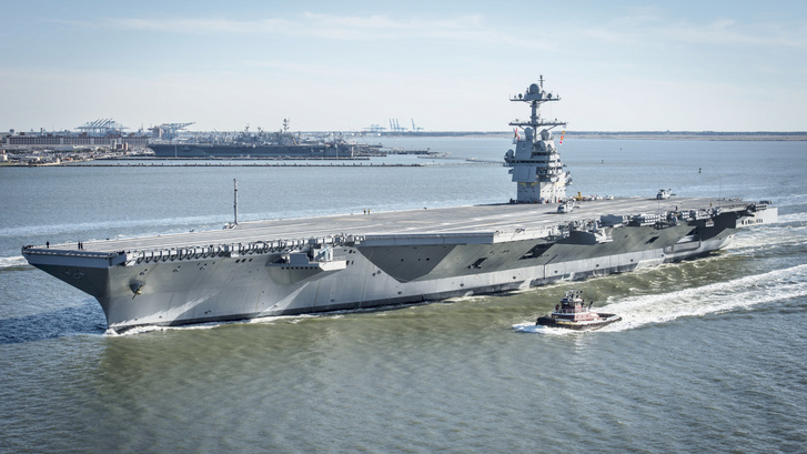 USS Gerald R. Ford (CVN-78) underway on 8 April 2017