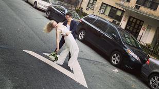 Egy New York-i leszbikus pár megtartotta az esküvőjét a kiürült utcán