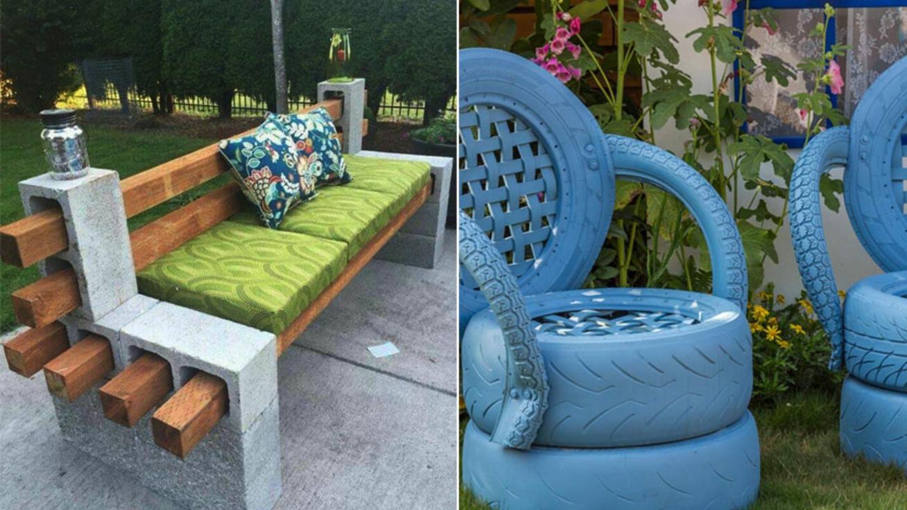 Kiszuperált limlomokból menő kerti bútort készíthetsz: mutatjuk a legjobb ötleteket
